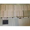 kit 6 tiras x 12 led ku6300 bn41-xxxxxa sj160215 bn96-40782a extraido de tv samsung ue49ku6100k